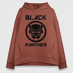 Толстовка оверсайз женская Черная пантера цвета кирпичный — фото 1