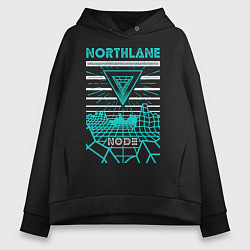 Толстовка оверсайз женская Northlane: Node цвета черный — фото 1