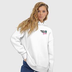 Толстовка оверсайз женская Dream Team logo цвета белый — фото 2