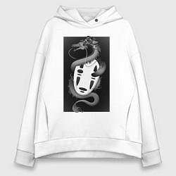 Толстовка оверсайз женская Унесённые призраками цвета белый — фото 1