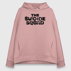 Толстовка оверсайз женская The Suicide Squad цвета пыльно-розовый — фото 1