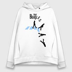 Толстовка оверсайз женская The Beatles: break down цвета белый — фото 1