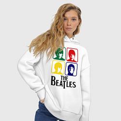 Толстовка оверсайз женская The Beatles: Colors цвета белый — фото 2