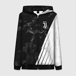 Женская толстовка на молнии FC Juventus: Abstract