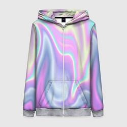 Толстовка на молнии женская Vaporwave цвета 3D-меланж — фото 1