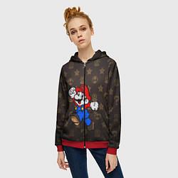 Толстовка на молнии женская Mario цвета 3D-красный — фото 2