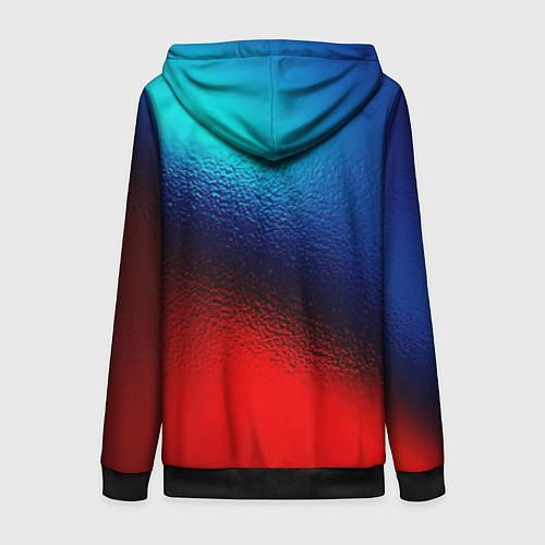 Женская толстовка на молнии Синий и красный / 3D-Черный – фото 2