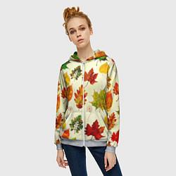Толстовка на молнии женская Осень цвета 3D-меланж — фото 2