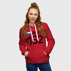 Толстовка-худи хлопковая женская RUS 152 цвета красный — фото 2