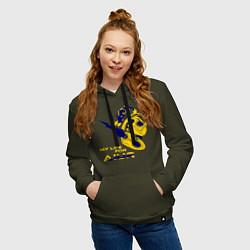 Толстовка-худи хлопковая женская Старкрафт 2 цвета хаки — фото 2