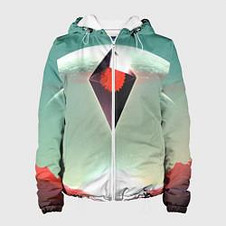 Куртка с капюшоном женская No Mans Sky цвета 3D-белый — фото 1