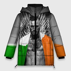 Женская зимняя 3D-куртка с капюшоном с принтом McGregor: Boxing of Thrones, цвет: 3D-черный, артикул: 10102373906071 — фото 1