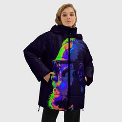 Женская зимняя 3D-куртка с капюшоном с принтом McGregor Neon, цвет: 3D-черный, артикул: 10102380506071 — фото 2