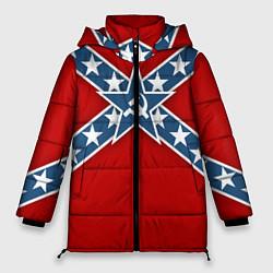 Куртка зимняя женская Флаг советской конфедерации - фото 1