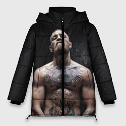 Женская зимняя 3D-куртка с капюшоном с принтом Конор Макгрегор, цвет: 3D-черный, артикул: 10108606406071 — фото 1