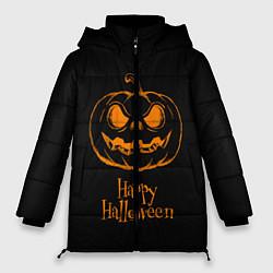 Женская зимняя 3D-куртка с капюшоном с принтом Halloween, цвет: 3D-черный, артикул: 10108886906071 — фото 1
