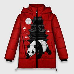 Куртка зимняя женская Panda Warrior цвета 3D-черный — фото 1