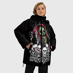 Женская зимняя 3D-куртка с капюшоном с принтом Bring Me The Horizon, цвет: 3D-черный, артикул: 10112868206071 — фото 2