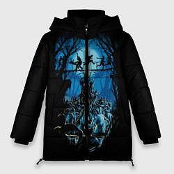 Женская зимняя 3D-куртка с капюшоном с принтом Zombie Island, цвет: 3D-черный, артикул: 10114556906071 — фото 1