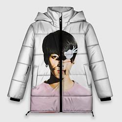 Женская зимняя 3D-куртка с капюшоном с принтом Jungkook, цвет: 3D-черный, артикул: 10114634606071 — фото 1