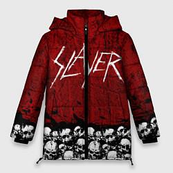 Женская зимняя 3D-куртка с капюшоном с принтом Slayer Red, цвет: 3D-черный, артикул: 10114909706071 — фото 1