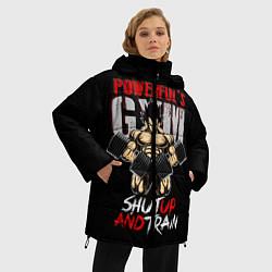 Куртка зимняя женская Powerful Gym цвета 3D-черный — фото 2