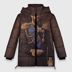 Женская зимняя 3D-куртка с капюшоном с принтом Александр III Миротворец, цвет: 3D-черный, артикул: 10116754406071 — фото 1