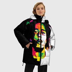 Куртка зимняя женская Bob Marley: Colors цвета 3D-черный — фото 2