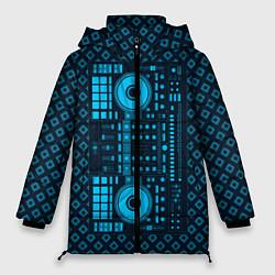 Женская зимняя 3D-куртка с капюшоном с принтом DJ Vinyl, цвет: 3D-черный, артикул: 10117481306071 — фото 1