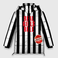 Куртка зимняя женская Девчонки рулят black stripe цвета 3D-черный — фото 1