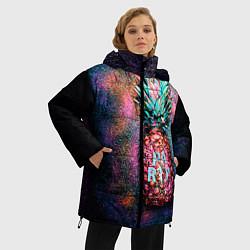 Куртка зимняя женская Fashion Party цвета 3D-черный — фото 2