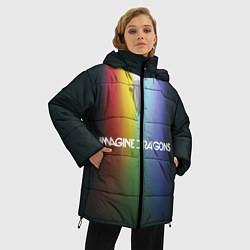 Женская зимняя 3D-куртка с капюшоном с принтом Imagine Dragons, цвет: 3D-черный, артикул: 10132586706071 — фото 2