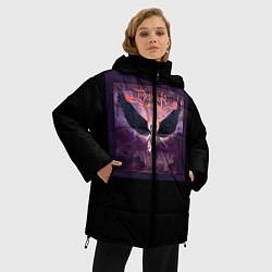 Женская зимняя 3D-куртка с капюшоном с принтом Dethklok: Angel, цвет: 3D-черный, артикул: 10134390106071 — фото 2
