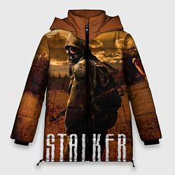 Женская зимняя 3D-куртка с капюшоном с принтом STALKER: Radiation, цвет: 3D-черный, артикул: 10135204106071 — фото 1