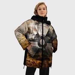 Женская зимняя 3D-куртка с капюшоном с принтом STALKER: Nuclear, цвет: 3D-черный, артикул: 10135204706071 — фото 2