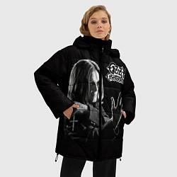 Женская зимняя 3D-куртка с капюшоном с принтом Оззи Осборн, цвет: 3D-черный, артикул: 10138075906071 — фото 2