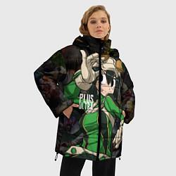 Женская зимняя 3D-куртка с капюшоном с принтом Plus Ultra: My Hero Academia, цвет: 3D-черный, артикул: 10144543506071 — фото 2