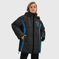 Женская зимняя 3D-куртка с капюшоном с принтом MAZDA SPORT, цвет: 3D-черный, артикул: 10146442906071 — фото 2