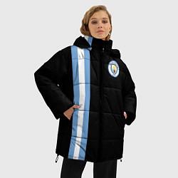 Женская зимняя 3D-куртка с капюшоном с принтом Манчестер Сити, цвет: 3D-черный, артикул: 10147107706071 — фото 2