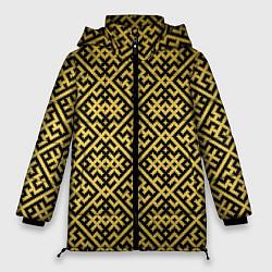 Куртка зимняя женская Духобор: Обережная вышивка - фото 1