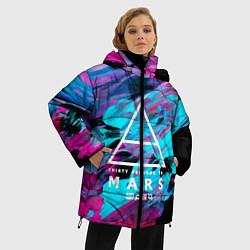 Женская зимняя 3D-куртка с капюшоном с принтом 30 STM: Neon Colours, цвет: 3D-черный, артикул: 10150658506071 — фото 2