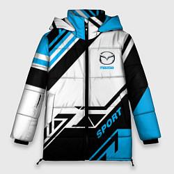 Женская зимняя 3D-куртка с капюшоном с принтом Mazda: Techno Sport, цвет: 3D-черный, артикул: 10152657106071 — фото 1