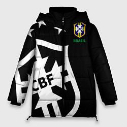 Женская зимняя 3D-куртка с капюшоном с принтом Brazil Team: Exclusive, цвет: 3D-черный, артикул: 10153704706071 — фото 1
