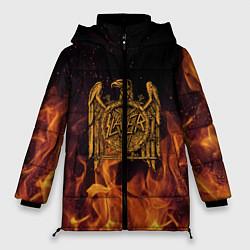 Женская зимняя 3D-куртка с капюшоном с принтом Slayer: Fire Eagle, цвет: 3D-черный, артикул: 10155330106071 — фото 1