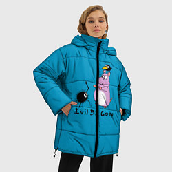 Женская зимняя 3D-куртка с капюшоном с принтом Унесённые призраками, цвет: 3D-черный, артикул: 10155954506071 — фото 2