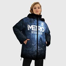 Женская зимняя 3D-куртка с капюшоном с принтом Metro Exodus: Dark Moon, цвет: 3D-черный, артикул: 10161310106071 — фото 2