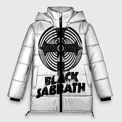 Женская зимняя 3D-куртка с капюшоном с принтом Black Sabbath, цвет: 3D-черный, артикул: 10170543306071 — фото 1