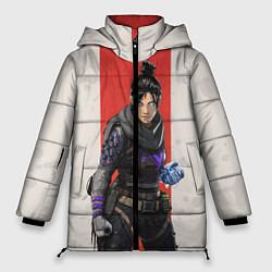 Женская зимняя 3D-куртка с капюшоном с принтом Apex Legends: Wraith, цвет: 3D-черный, артикул: 10172779506071 — фото 1