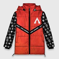 Женская зимняя 3D-куртка с капюшоном с принтом Apex Legends: Gamer, цвет: 3D-черный, артикул: 10173205506071 — фото 1