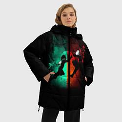 Женская зимняя 3D-куртка с капюшоном с принтом No Hero Academia, цвет: 3D-черный, артикул: 10181198506071 — фото 2